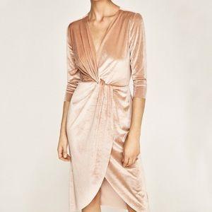 Blush Velvet Zara Dress